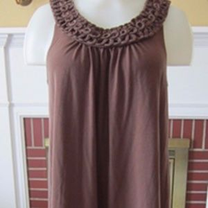 Tommy Bahama Knit Sleeveless Brown Stretch Dress